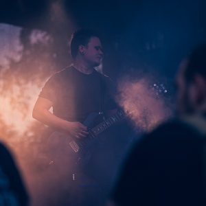Gitarrist mit PRS Custom